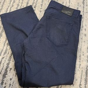 Hugo Boss checkered blue casual pants